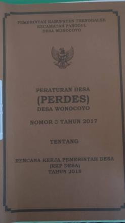 Peraturan Desa (PERDES) Desa Wonocoyo No. 3 Tahun 2017