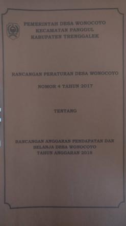 Peraturan Desa (PERDES) Desa Wonocoyo No. 4 Tahun 2017